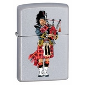 Zippo Scottish Bagpiper Brushed Chrome Lighter