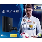 PS4 Pro 1TB Console FIFA 18 Bundle - with FIFA 18 Ultimate Team Icons and Rare Player Pack