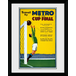 "Transport For London Metro To The Cup Final 12"" x 16"" Framed Collector Print - Image 2"