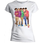 One Direction Group Standing Colour Skinny Wht TS: Large