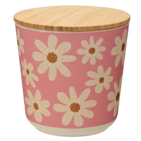 Daisy Bamboo Composite Small Round Storage Jar