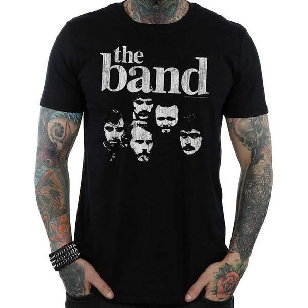 The Band - Heads Men's Large T-Shirt - Black