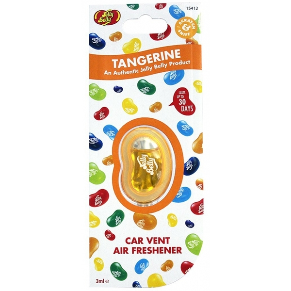 Jelly Belly Tangerine Vent Clip Car/Home Air Freshener