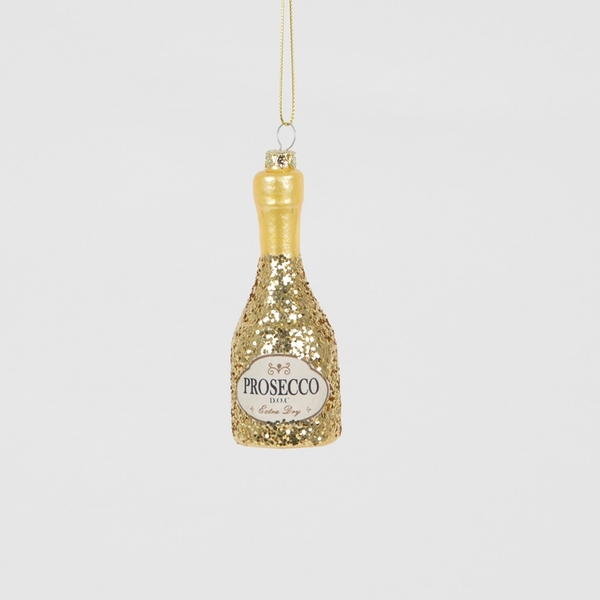 Sass & Belle Lets Celebrate Glitter Prosecco Bottle Shaped Bauble