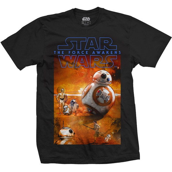 Star Wars - Episode VII BB-8 Composition Unisex Large T-Shirt - Black