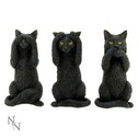 Three Wise Cats Figurines