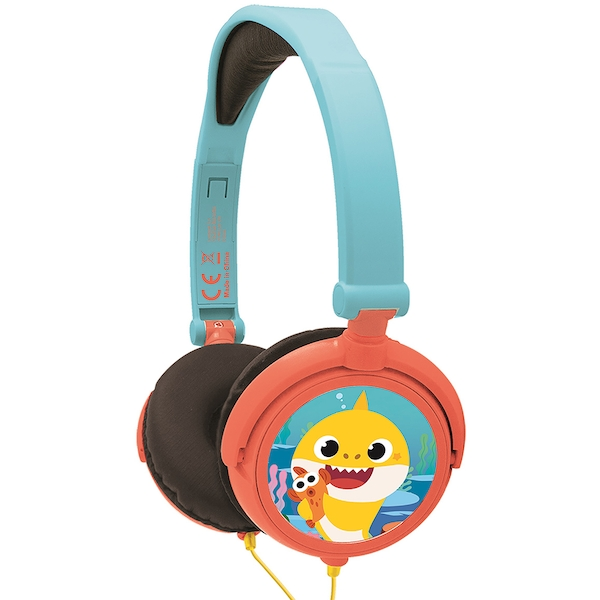 Lexibook HP015BS Baby Shark Foldable Stereo Headphones with Volume Limiter