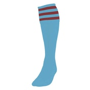 Precision 3 Stripe Football Socks Mens Sky/Maroon