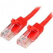 StarTech 45PAT5MRD 5m Cat5e U/UTP (UTP) Red networking cable