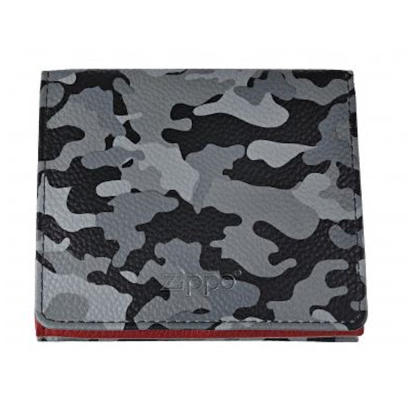 Zippo Grey Camouflage Leather Double Sided Wallet (10.2 x 9.3 x 2.5cm)