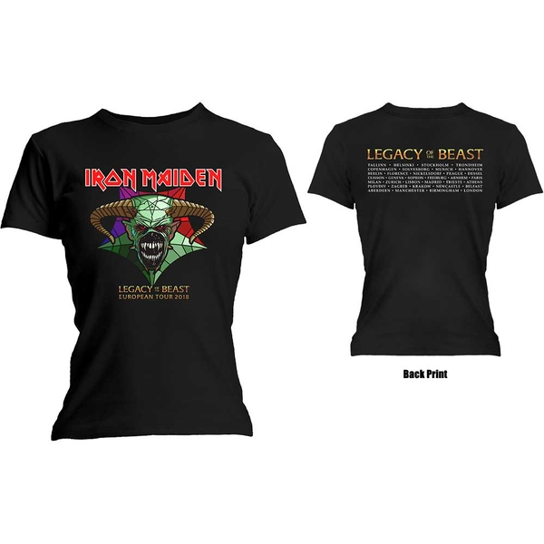 Iron Maiden - Legacy of the Beast Tour Women's Large T-Shirt - Black