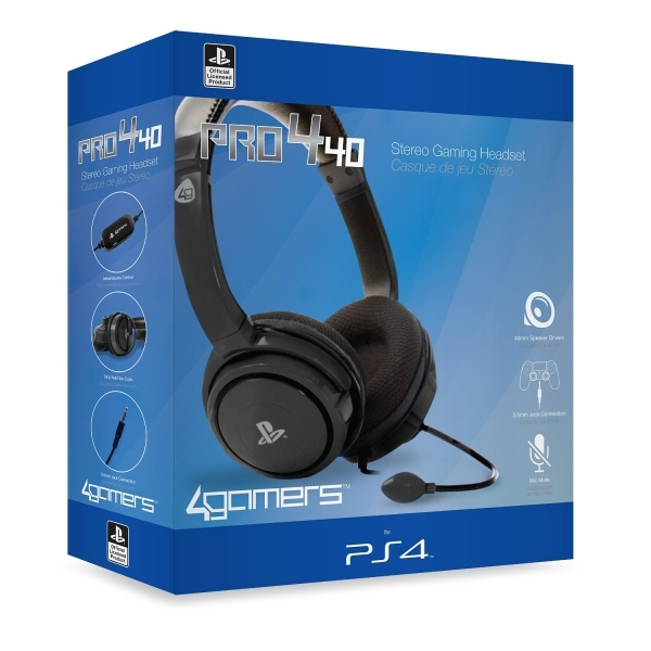Image of 4Gamers PRO4-40 Wired Stereo Gaming Headset PS4