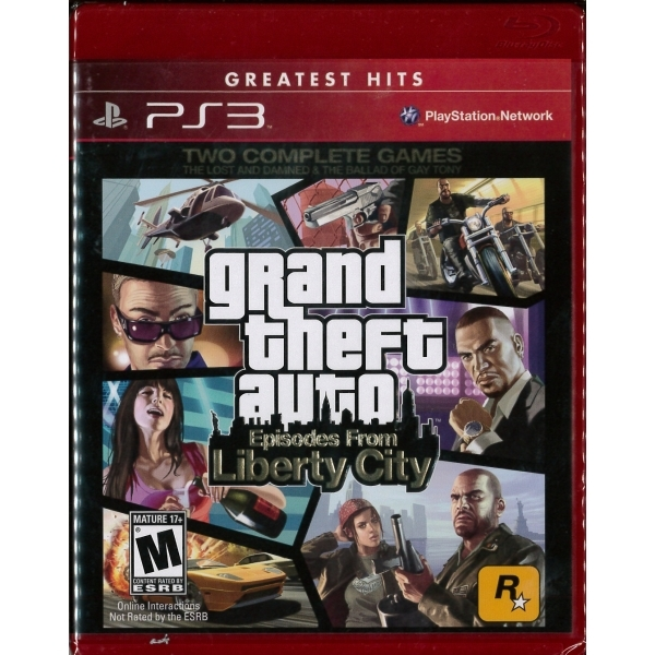 Grand Theft Auto GTA Episodes From Liberty City Game (Greatest Hits) PS3