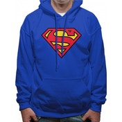 Superman - Logo Men's Small Pullover Hoodie - Blue