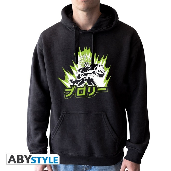 """Deagon Ball Super Broly - Sweat """"Broly"""" Mens without zip black"""