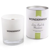 Lime, Basil and Mandarin (Wonderwick) Blanc Crackling Candle