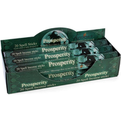 6 Packs of Prosperity Spell Incense Sticks by Lisa Parker