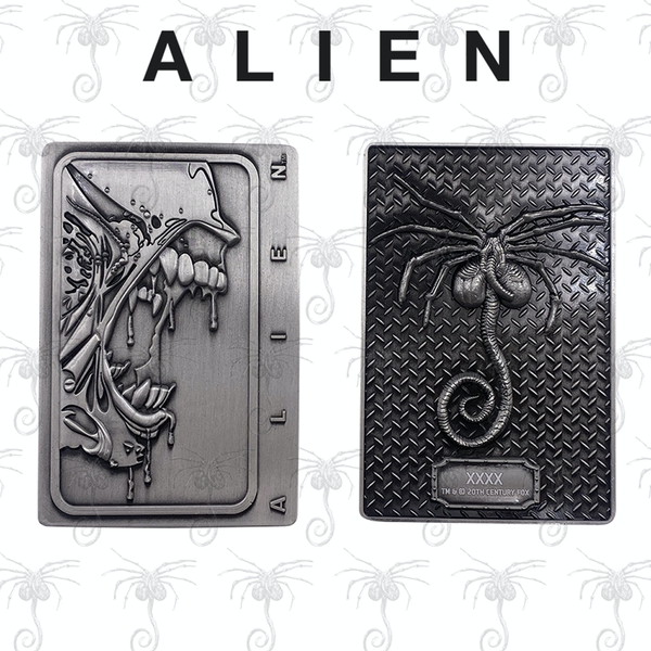 Xenomorph (Alien) Antique Silver Limited Edition Collectable Ingot