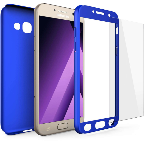 info for 62e94 41f34 Samsung Galaxy A5 (2017) PC Hybrid 360 Case with Tempered Glass ...