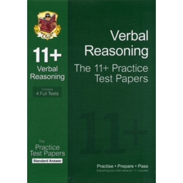 11+ Verbal Reasoning Practice Test Papers: Standard Answers (for GL & Other Test Providers) by CGP Books (Paperback, 2012)