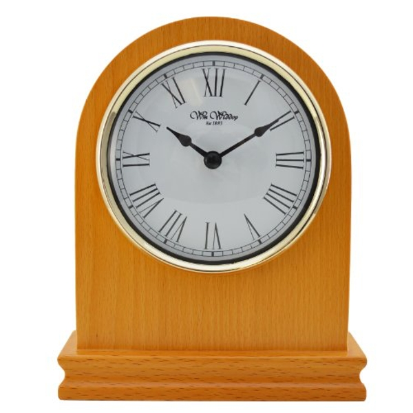 Wooden Arched Mantel Clock