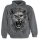 Tribal Lion Men's Large Hoodie - Charcoal Grey - Image 2