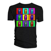 Doctor Who - Tardis Psyschedelic Squares Men's XXX-Large T-Shirt - Black