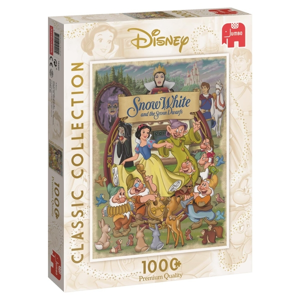 Jumbo Disney Classic Collection Snow White Movie Poster 1000 Piece Jigsaw Puzzle