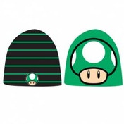 Nintendo Black and Green Reversible Beanie