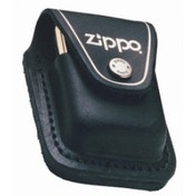 Zippo Black Lighter Pouch With Loop Leather