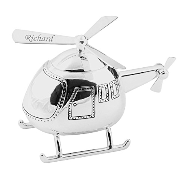 BAMBINO BY JULIANA? Silver Plated Helicopter Money Box