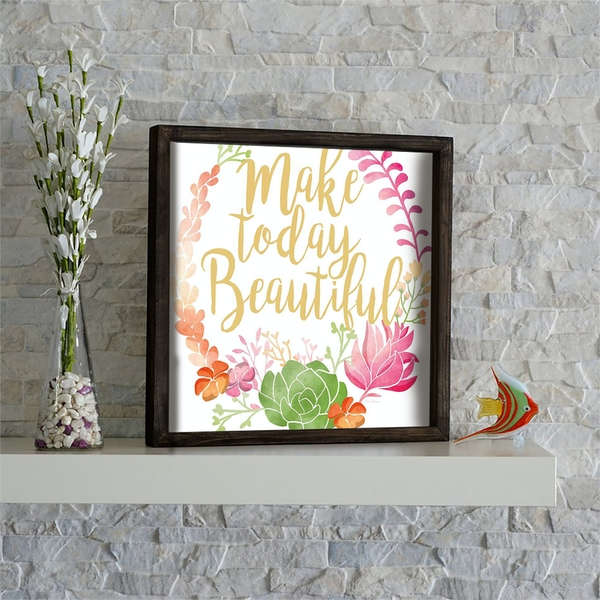 KZM613 Multicolor Decorative Framed MDF Painting