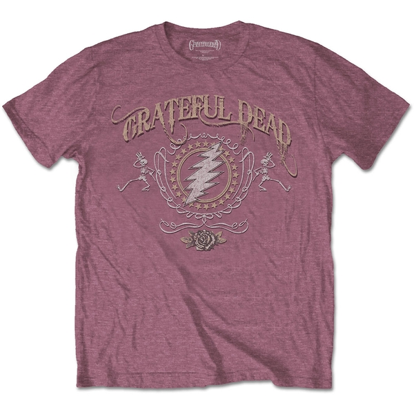 Grateful Dead - Bolt Men's Medium T-Shirt - Heather Cardinal
