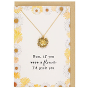 Mum If You Were A Flower Necklace And Card Set