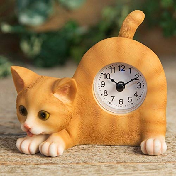 Best of Breed - Ginger Tom Cat Mantel Clock