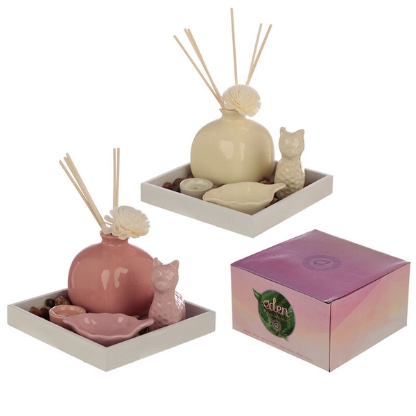 Llama Diffuser, Incense & Candle Holder Eden Aroma Set (1 Random Supplied)