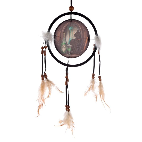 Lisa Parker Absinthe Cat Dreamcatcher 16cm