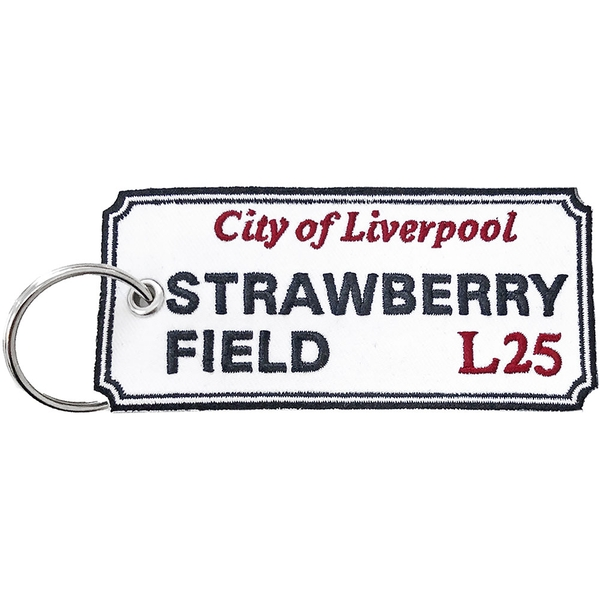 Road Sign - Strawberry Field, Liverpool Sign Keychain
