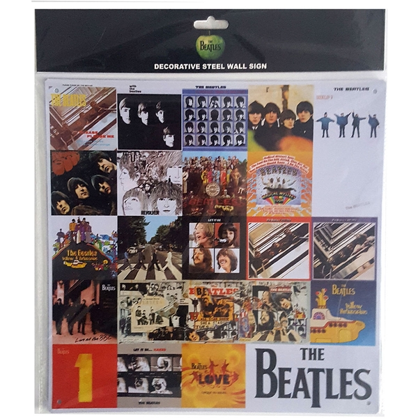The Beatles Chronology Steel Wall Sign