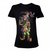 Nintendo Legend Of Zelda Mens Skull Kid Majoras Mask Medium T-Shirt - Black