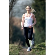 PT Ladies Running Vest White/Sun Orange 10 (34inch)
