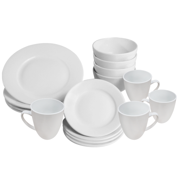 16 Piece White Dinner Set | M&W