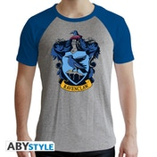 Harry Potter - Ravenclaw Men's Medium T-Shirt - Grey and Blue
