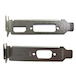 2 X Low Profile Brackets For Graphics Cards Fits DVI + HDMI And VGA - Image 2