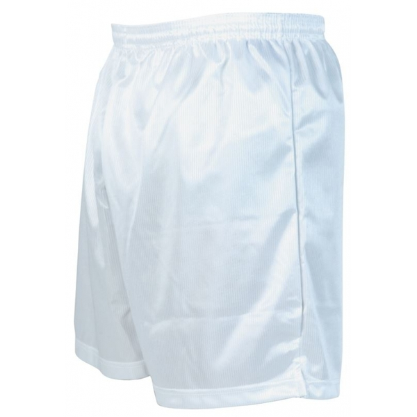 Precision Micro-stripe Football Shorts 26-28 inch White