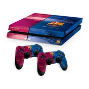 Official Barcelona FC PS4 Console Skin and 2x Controller Skin Combo Pack