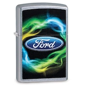 Zippo Ford Script Colour Chrome Regular Windproof Lighter