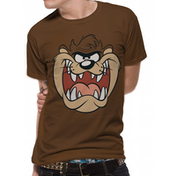 Looney Tunes - Taz Face Men's Large T-Shirt - Brown