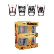 The Walking Dead Symbols Shot Glasses