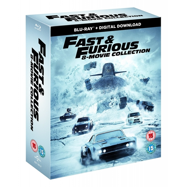 fast furious 8 film collection blu ray. Black Bedroom Furniture Sets. Home Design Ideas
